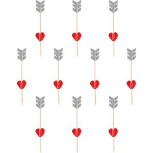 Heart & Arrow Cupcake Picks 36ct