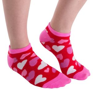 Red Hearts Valentine's Day Ankle Socks