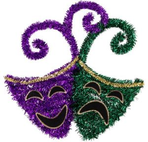 Tinsel Mardi Gras Comedy & Tragedy Masks