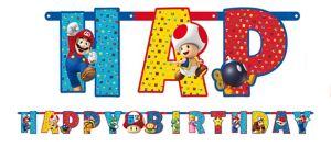 Super Mario Birthday Banner