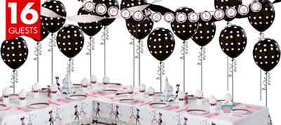 Pink Paris Party Supplies Deluxe Party Kit