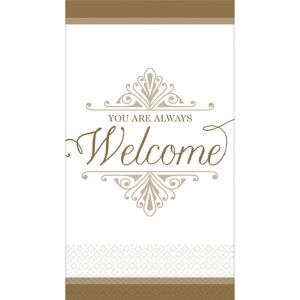 Gold Welcome Premium Guest Towels 16ct