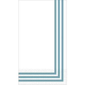 Teal Classic Stripe Premium Guest Towels 16ct