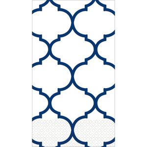 Royal Blue Lattice Premium Guest Towels 16ct