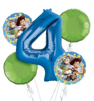 Toy Story 4th Birthday Balloon Bouquet 5pc
