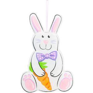 Hanging Burlap Easter Bunny