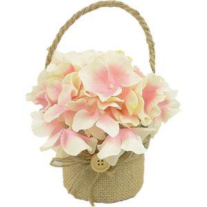 Hanging Burlap Flowerpot