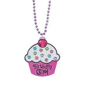 Birthday Girl Cupcake Birthday Necklace