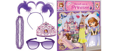 Sofia the First Photo Booth Kit