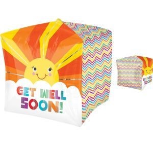 Get Well Soon Balloon - Cubez Sunshine Chevron