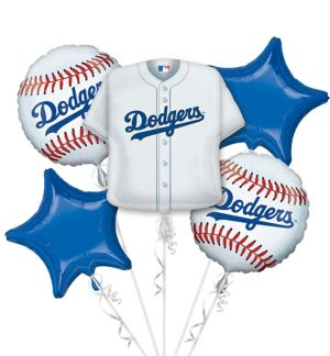 Los Angeles Dodgers Balloon Bouquet 5pc - Jersey