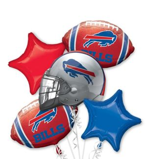 Buffalo Bills Balloon Bouquet 5pc