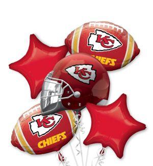 Kansas City Chiefs Balloon Bouquet 5pc