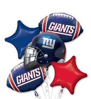 New York Giants Balloon Bouquet 5pc