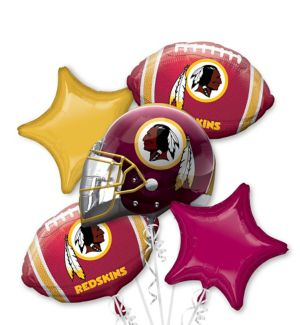 Washington Redskins Balloon Bouquet 5pc