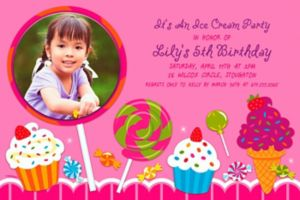 Custom Sweet Shop Photo Invitation
