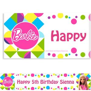 Custom Barbie Sparkle Banner