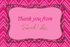 Custom Born to Be Fabulous Thank You Note