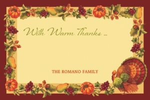 Custom Joyful Thanksgiving Thank You Note