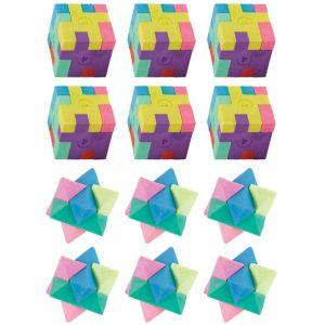 Puzzle Erasers 12ct