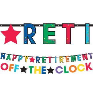 Happy Retirement Celebration Letter Banners 2ct
