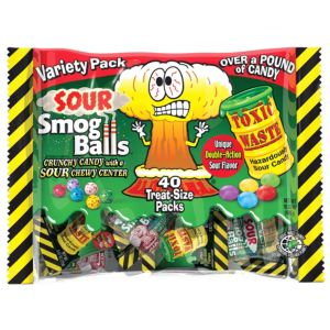Sour Smog Balls & Toxic Waste Sour Candy Variety Pack 40ct