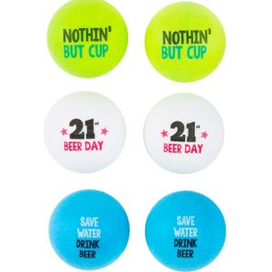 21st Birthday Pong Balls 6ct
