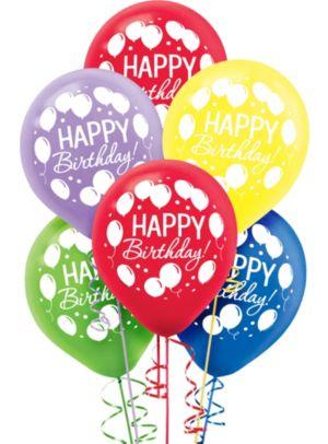 Rainbow Balloon Bash Birthday Balloons 72ct