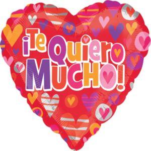 Te Quiero Mucho Heart Balloon