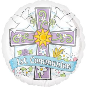 First Communion Balloon - Joyous Celebration