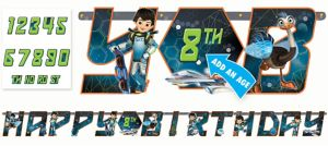 Miles from Tomorrowland Birthday Banner