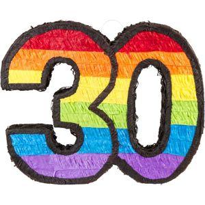 Rainbow Number 30 Pinata