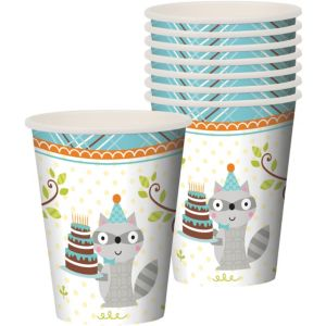 Boy Birthday Cups 8ct - Happi Woodland