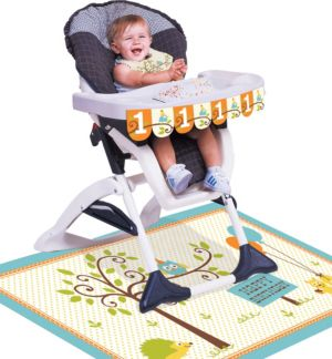 Boy 1st Birthday High Chair Decorating Kit 3pc - Happi Woodland