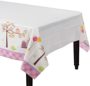 Girl Birthday Table Cover - Happi Woodland