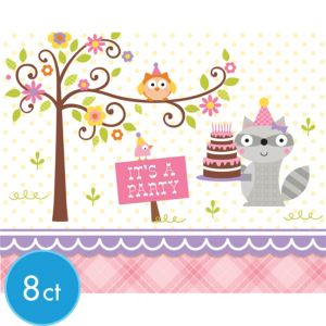 Girl Birthday Invitations 8ct - Happi Woodland