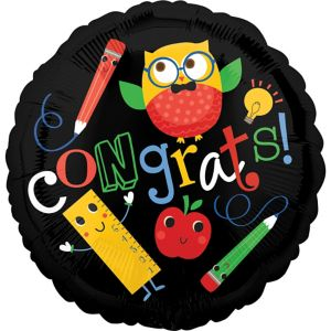 Schoolhouse Chalkboard Graduation Balloon