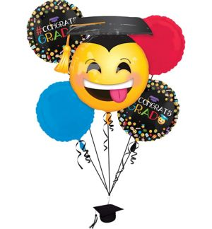 Smiley Graduation Balloon Bouquet 6pc