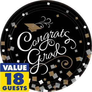 Congrats Graduation Dinner Plates 18ct