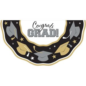 Black, Gold & Silver Graduation Bunting
