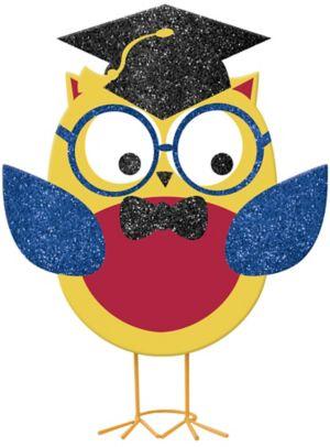 Glitter Graduation Owl - Schoolhouse Chalkboard Graduation