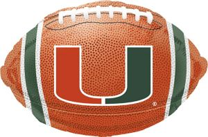 Miami Hurricanes Balloon - Football