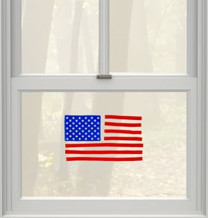 American Flag Gel Cling Decals 8ct