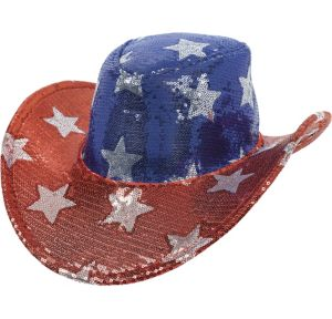 Sequin Stars Patriotic Cowboy Hat