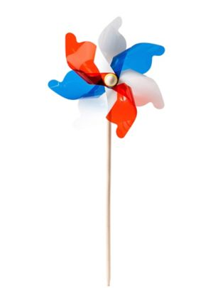 Patriotic Red, White & Blue Pinwheel Yard Stake
