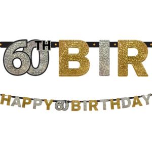 Prismatic 60th Birthday Banner - Sparkling Celebration