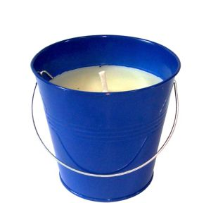Blue Citronella Candle Pail