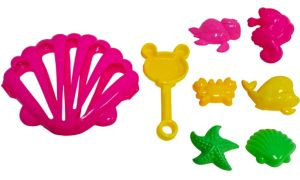 Clamshell Beach Toy Set 8pc