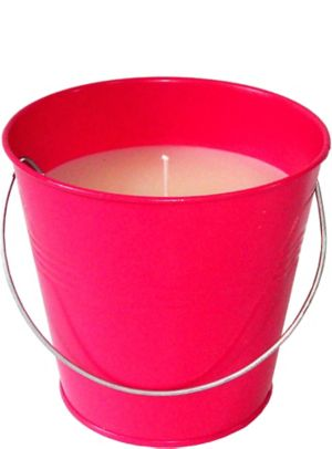 Large Bright Pink Citronella Candle Pail