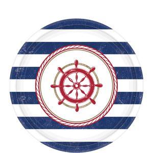 Striped Nautical Dessert Plates 8ct Party City